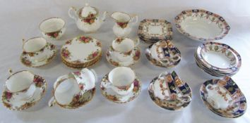 Royal Albert 'Old Country Roses' part tea service & St Michael part tea service