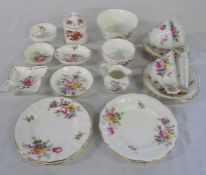 Assorted Royal Crown Derby inc part tea set & pin dishes