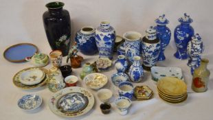 Selection of ceramic items mainly Oriental (AF)
