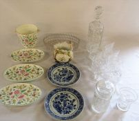 Various glassware & ceramics inc Minton Haddon Hall and Delft