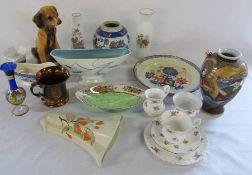 Various ceramics etc inc Masons & Maling