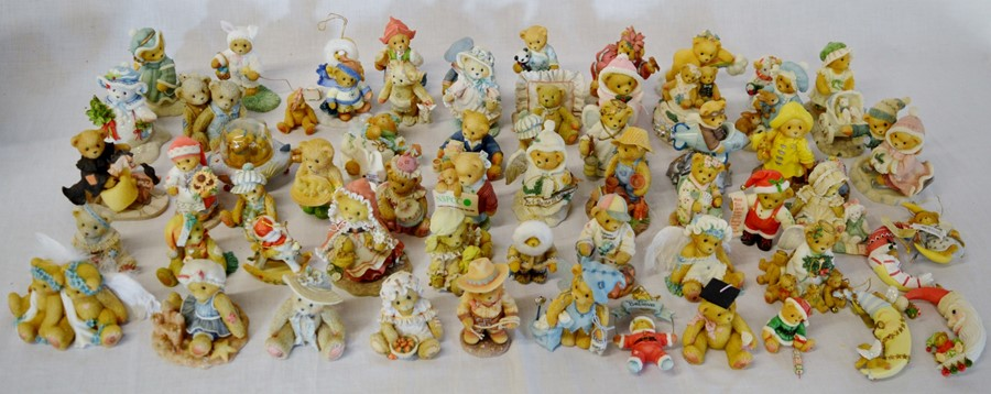 Lot 21 - Approximately 62 Cherished Teddies figures with a bag of certificates