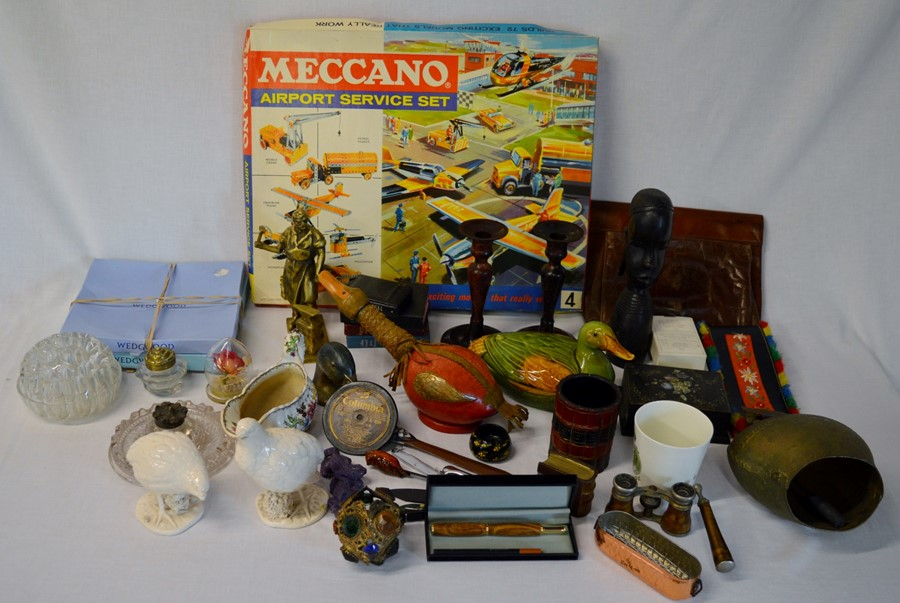 Lot 57 - Meccano Airport Service set box with some parts along with a Highways vehicle box & some parts (
