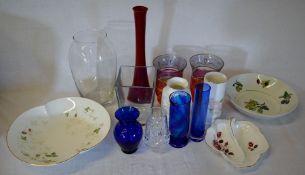 Various glassware & ceramics including Wedgwood