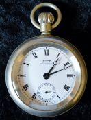 British Rail Eastern Region Tissot Antimagnetique pocket watch engraved BR(E) 9831