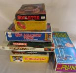 Lot 17 - Selection of retro board games inc Rod Hull's Emu game, Up! against time, Kerplunk & Pathfinder