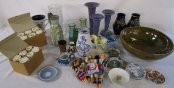 Various glassware and ceramics inc Wedgwood and Denby
