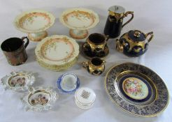 Selection of ceramics inc Limoges & Crown Ducal