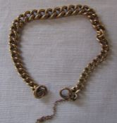 9ct gold chain length 18.5 cm weight 17.1 g