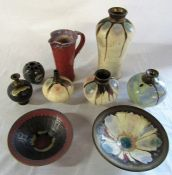 Selection of studio pottery