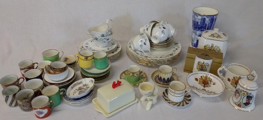 Lot 41 - Colclough part dinner service, Ringtons china, Aynsley commemorative ware etc.