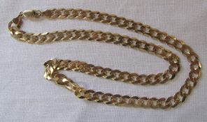 9ct gold necklace L 51 cm weight 23.1 g