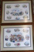 2 framed Colin Carr prints