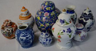 Various ceramic Oriental & other vases & jars