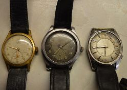 Cyma WW2 military issue Dirty Dozen wrist watch (P 7370 12370) with faded dial, Jaeger Le Coultre