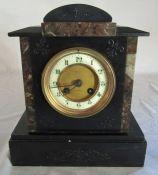 Mansell of Lincoln slate mantel clock H 26 cm