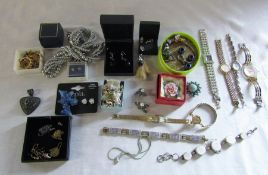 Assorted costume jewellery and watches