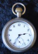 British Rail Midlands Swiss made pocket watch engraved BR(M) 18742
