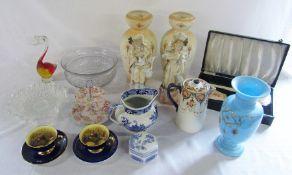 Various ceramics and glassware etc inc Aynsley