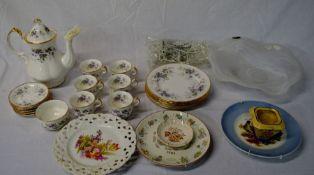 Paragon Malandi part coffee service, other ceramics & Biala glass dish