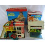 Lot 6 - Vintage Play Family toys - Action Garage and Schoo