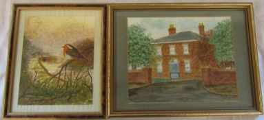 2 framed watercolours by Mary Fowler