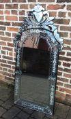 Large Venetian style mirror 69 cm x 141 cm