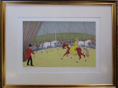 Framed limited edition French artist proof lithographic print 48/52 by Vincent Haddelsey (1934-2010)