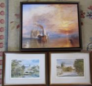 2 limited edition prints of Helmsley & a canvas print of a nautical scene