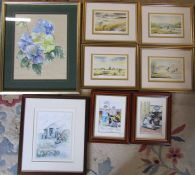 8 framed pictures inc signed limited editions by Stephen Abbey & F A Betteridge