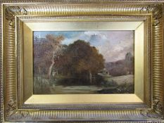 Oil on board of a man fishing signed lower right corner 34.5 cm x 26 cm (size including frame)