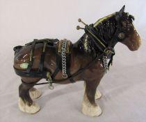 Beswick shire horse L 23 cm