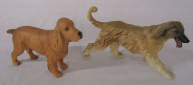 Beswick Afghan hound no 3070 L 20 cm & Beswick cocker spaniel L 19 cm