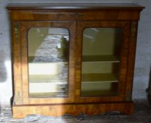 Late 19th century inlaid display cabinet with ormolu mounts