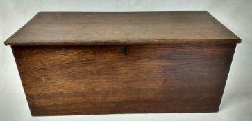 Handmade oak box width 58cm, height 24.5cm, depth