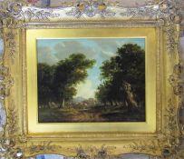 Joseph Maiden (1813-1843) - Gilt framed oil on board of a rural scene signed J Maiden 1827 57 cm x