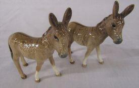 2 Beswick donkey foals