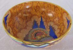 1930's Carlton Ware 'Awakening' pattern bowl D 12.5 cm H 5 cm