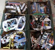 Large quantity of Lego including boats, trains, train station, police, construction vehicles,