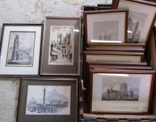 Quantity of framed Lincolnshire etchings/prints