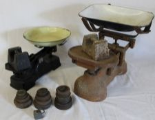 2 sets of scales and selection of weights