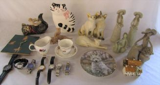 Various ceramics inc Royal Doulton Brambly Hedge cup and saucer & Country Artists Siamese cats