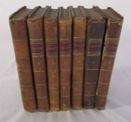 7 volumes of The Spectator with sketches of the lives of the authors London 1797