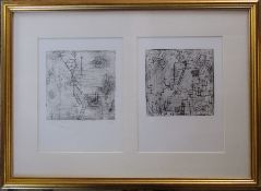 Paul Klee (1879-1940) framed pair of limited edition prints 60/500 from the third revised folio