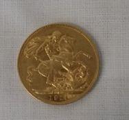 Edwardian gold full sovereign 1911