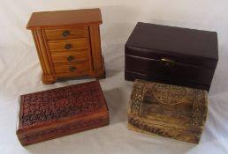 4 jewellery boxes
