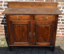 Small oak sideboard L 117 cm W 44 cm H 93 cm