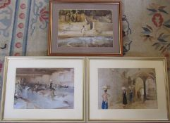 3 William Russell Flint prints 55 cm x 43 cm (size including frame)