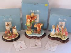 3 boxed Border Fine Arts Beatrix Potter limited edition figures - The Tailor of Gloucester 55/