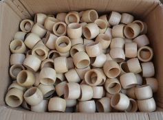 Large quantity of wooden serviette / napkin rings